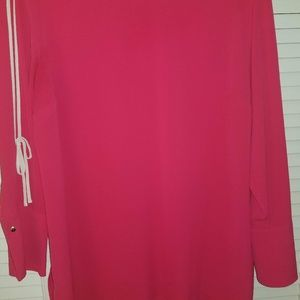 VINCE CAMUTO BLOUSE WOMEN PLUS 1X PINK COLD LONG